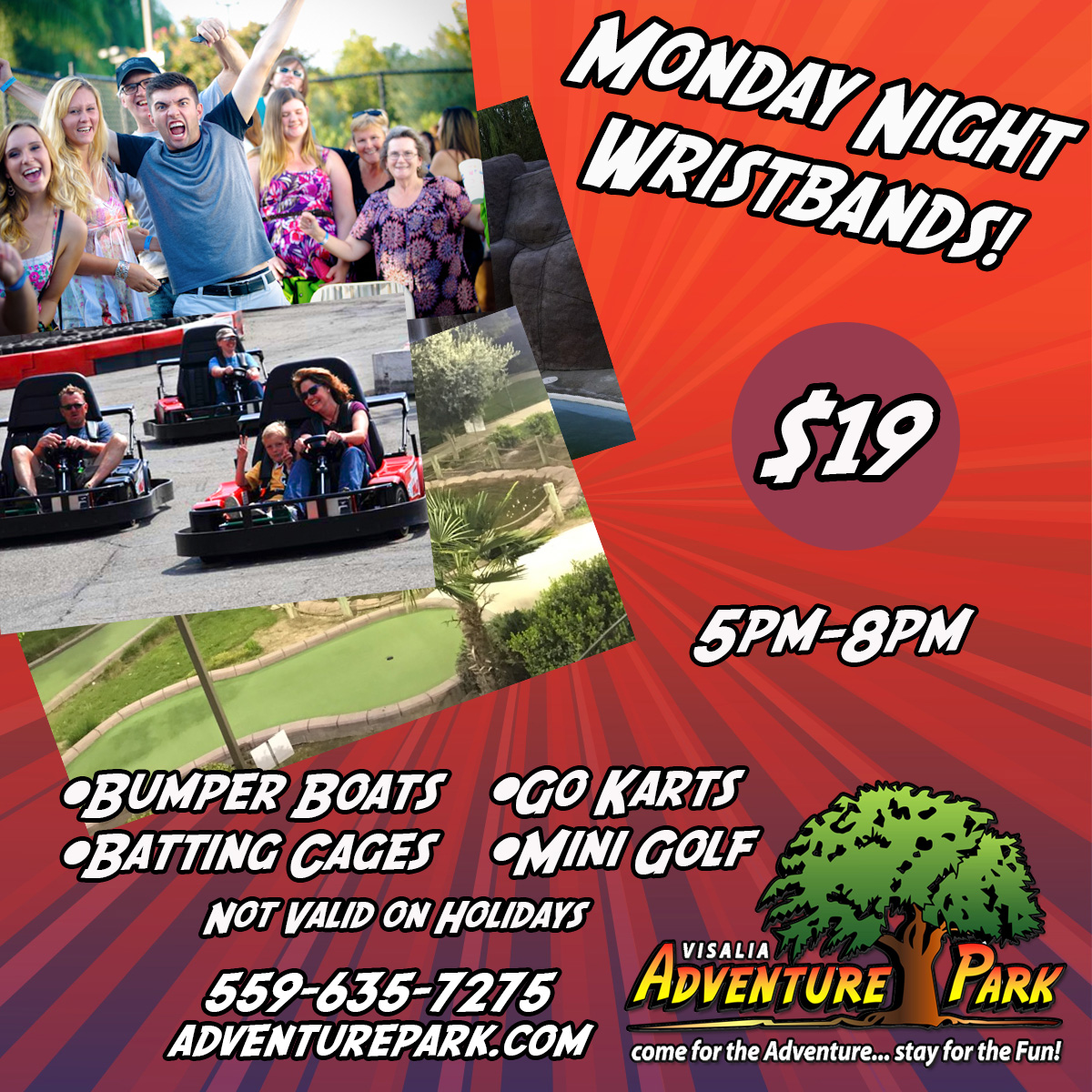 Monday Night Deals At Adventure Park In Visalia