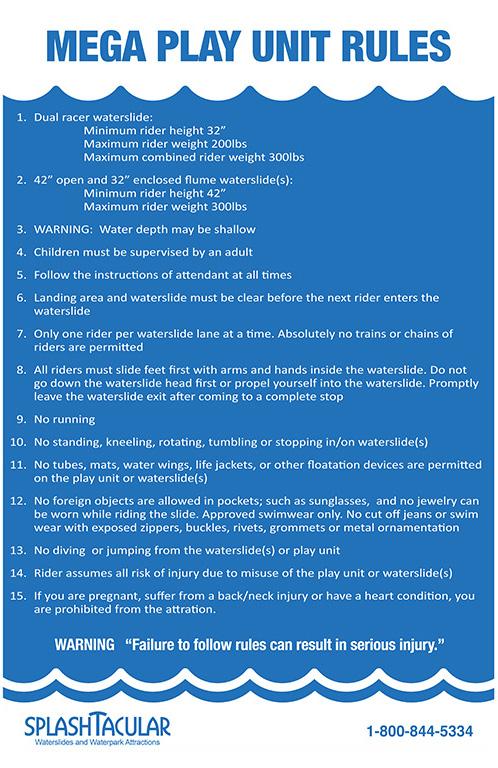 water slide rules
