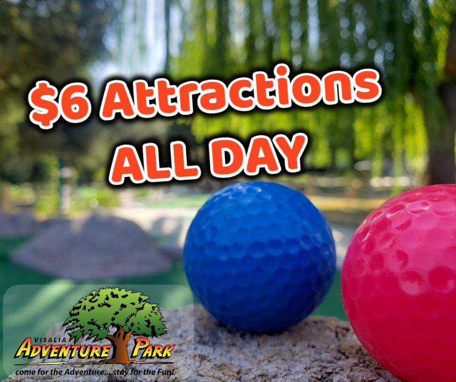 Tuesday Deals At Adventure Park In Visalia
